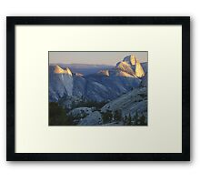 Evening Sunlight, Olmsted Point Framed Print
