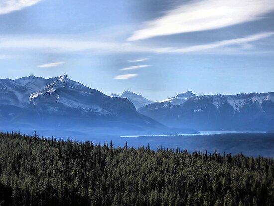 Misty Blue Mountains by Leslie van de Ligt