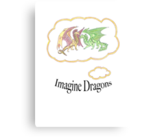 Imagine Dragons fan art with text Canvas Print