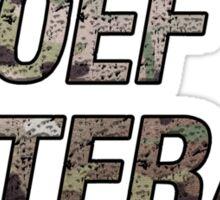 OEF Veteran Multicam Text Sticker