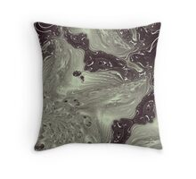 Muddy Streams Throw Pillow