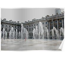 Water feature Somerset house London Poster