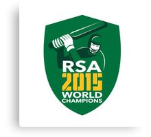 South Africa Cricket 2015 World Champions Shield Canvas Print