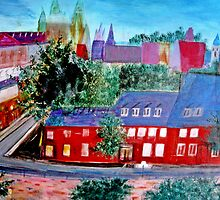 View  Upper  Quebec City    ( My Paintings )  by fiat777
