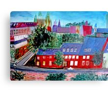 View  Upper  Quebec City    ( My Paintings )  Canvas Print