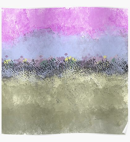 Abstract Pastel Flower Garden Poster