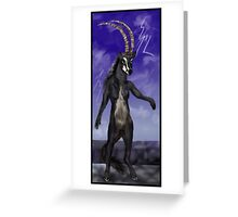 Sable Antelope Human Anthro Greeting Card