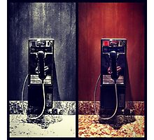 Pay Phones Photographic Print