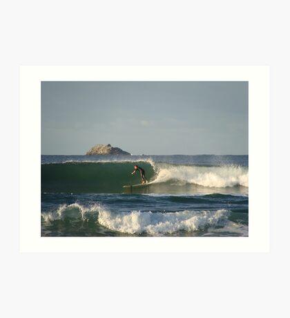 Surf in Byron Bay Art Print