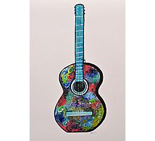 Colorful Abstract Guitar painting Modern wall decor Photographic Print