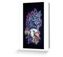 Wolf and Eagle Greeting Card