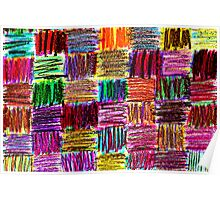 crayon quilt Poster