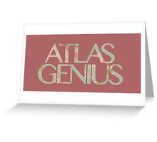 Atlas Genius Vintage Floral Print Greeting Card