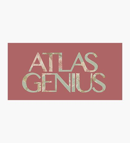 Atlas Genius Vintage Floral Print Photographic Print