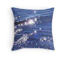 Diamonds in the Water. Throw Pillow