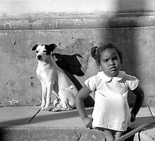 Girl and dog tryptic 1-3 by guyp