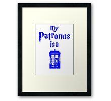 my patronus is a tardis  Framed Print