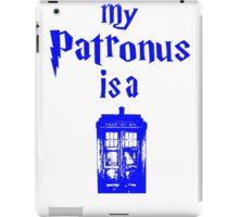 my patronus is a tardis  iPad Case/Skin