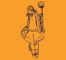 Basketball Girl by Dentanarts