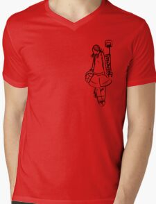 Basketball Girl Mens V-Neck T-Shirt