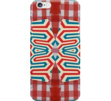 Red Gingham with Egyptian Repeated iPhone Case/Skin