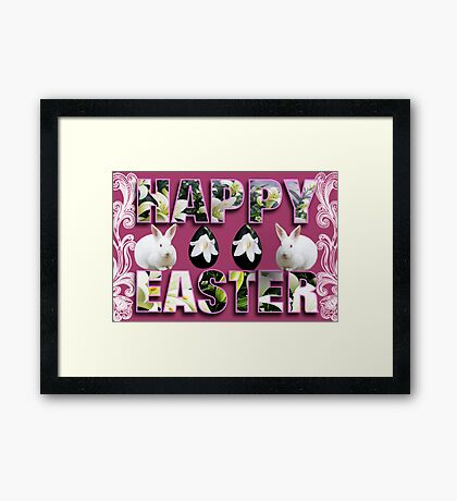 。◕‿◕。 HAPPY EASTER HOP HOP 。◕‿◕。  Framed Print