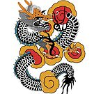 Asian Art Angry Dragon by Zehda