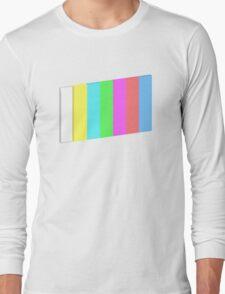 3-dimensional color bars vector image technology Long Sleeve T-Shirt
