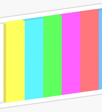 3-dimensional color bars vector image technology Sticker