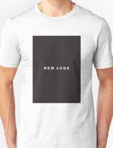 New York Minimalist Black and White - Trendy/Hipster Typography T-Shirt