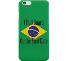 First Date BJJ (Black) iPhone Case/Skin