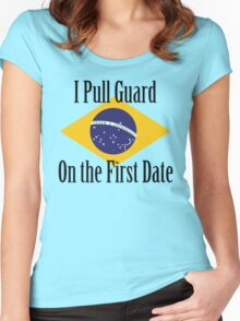 First Date BJJ (Black) Women's Fitted Scoop T-Shirt