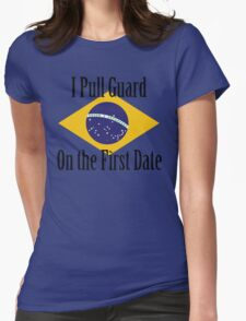 First Date BJJ (Black) Womens Fitted T-Shirt