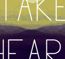 Take Heart Sticker