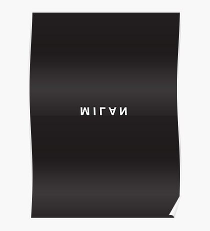 Milan Minimalist Black and White - Trendy/Hipster Typography Poster