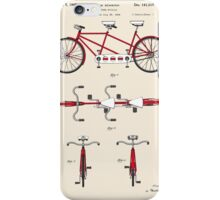 Tandem Bicycle Patent - Colour iPhone Case/Skin