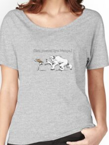 William Shakespeare's Star Wars: Exit, pursued by Wampa Women's Relaxed Fit T-Shirt