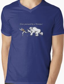 William Shakespeare's Star Wars: Exit, pursued by Wampa Mens V-Neck T-Shirt
