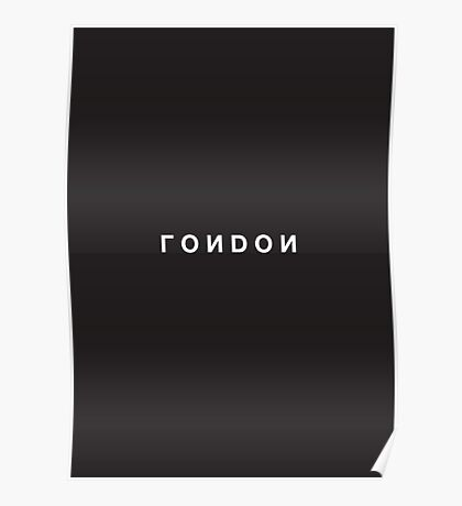 London Minimalist Black and White - Trendy/Hipster Typography Poster
