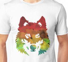 Colour Patch Wolf Unisex T-Shirt