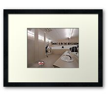 Smoke Is In The Boys Room Framed Print