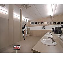Smoke Is In The Boys Room Photographic Print