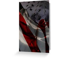Stars, Stripes and A Rose Greeting Card