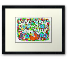 Believe In Yourself (on white) Framed Print
