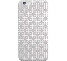 Silver Grey Interlocked Squares Pattern iPhone Case/Skin