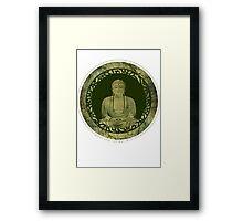 the zen path Framed Print