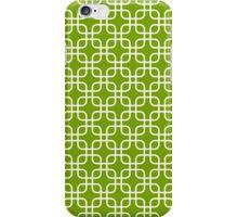 Lime Green Interlocked Squares Pattern iPhone Case/Skin