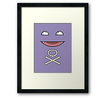 Koffing Face Framed Print