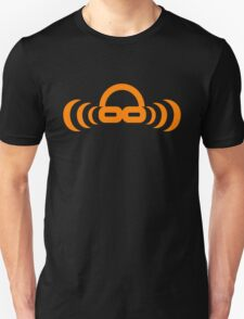 Dj atomic Orange logo no URL Unisex T-Shirt