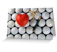 golf heart Greeting Card